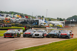 Départ : Petter Solberg, Timmy Hansen, Mattias Ekström, Andreas Bakkerud et Sébastien Loeb