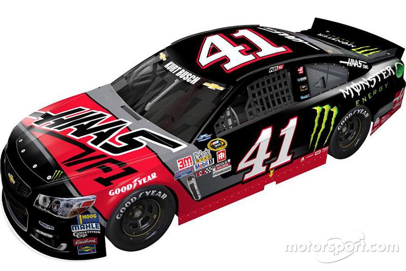 Throwback-Design von Kurt Busch, Stewart-Haas Racing, Chevrolet