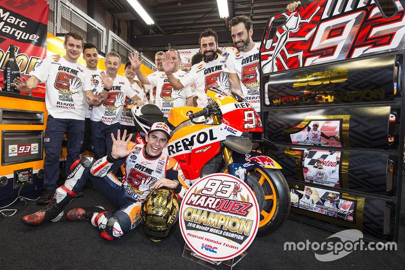 Marc Marque celebrates being 2016 world champion