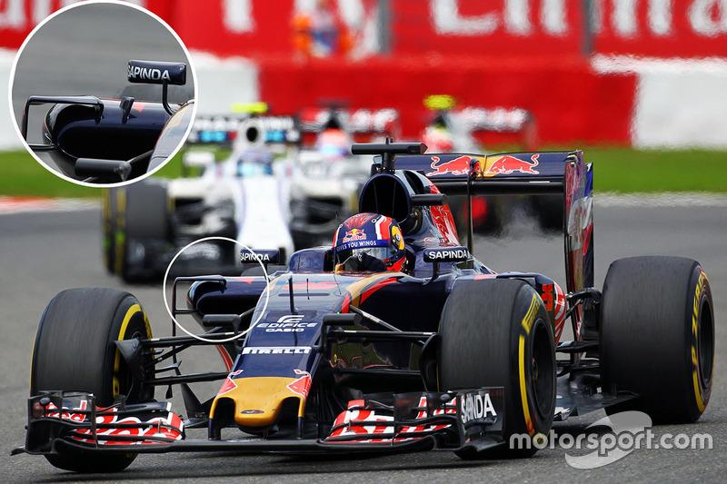 Toro Rosso STR11: Winglets am Seitenkasten