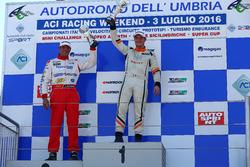 Gara 1 podio TCS 1.4: Kevin Giacon, Alfa Romeo Mito-TCS, Silvano Bolzoni, Alfa Romeo Mito-TCS
