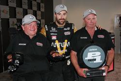 James Hinchcliffe, Schmidt Peterson Motorsports Honda pole winner, Sam Schmidt and Ric Peterson