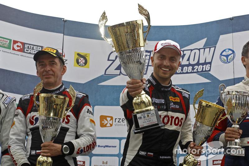 Jarek Baran e Kajetan Kajetanowicz sul podio del Rally Rzeszow