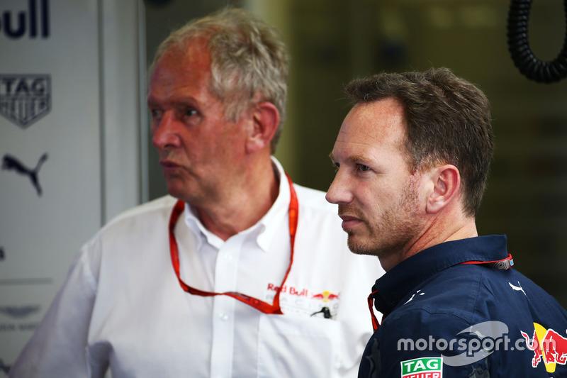 (Зліва направо): Хельмут Марко, консультант Red Bull  та Крістіан Хорнер, керівник Red Bull Racing Team