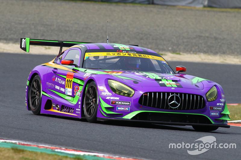 #111 Rn-sports Mercedes SLS AMG GT3: Masayuki Ueda, Kazuya Tsuruta
