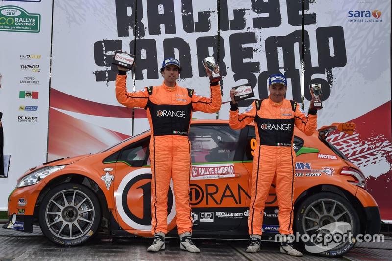 Terzo posto, Simone Campedelli e Danilo Fappani, Peugeot 208 T16 R5, Accademy Asd