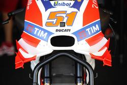 Ducati wings on the bike of Michele Pirro, Ducati Team