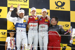 Podium: Race winner Jamie Green, Audi Sport Team Rosberg, Audi RS 5 DTM; second place Gary Paffett,