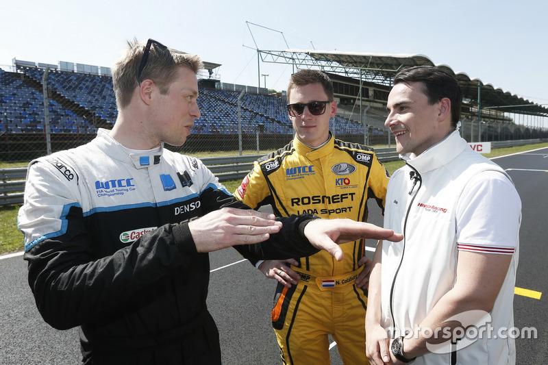 Тед Бйорк, Polestar Cyan Racing; Нікі Катсбург, LADA Sport Rosneft; Норберт Міхеліц, Honda Racing Te
