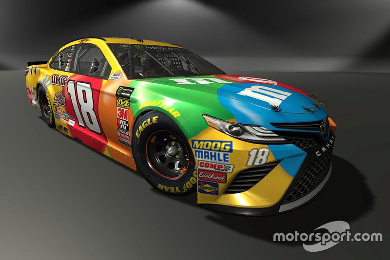 Kyle Busch, Joe Gibbs Racing, Toyota Camry - NASCAR Heat 3 skin