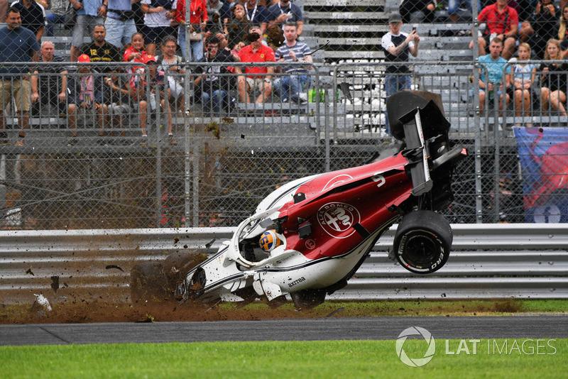 L'accident de Marcus Ericsson, Sauber C37
