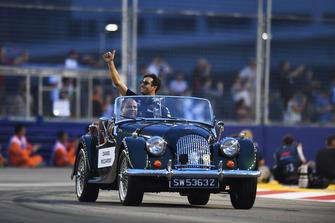 Daniel Ricciardo, Red Bull Racing on drivers parade