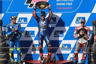 Podium: 1. Maverick Viñales, 2. Andrea Iannone, 3. Andrea Dovizioso
