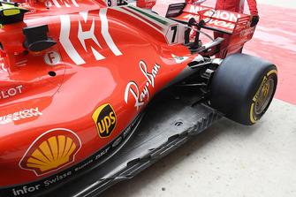 Ferrari SF71H, il fondo vettura