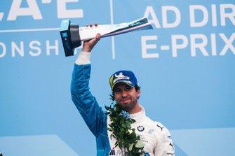 Antonio Felix da Costa, BMW I Andretti Motorsports celebrates victory on the podium