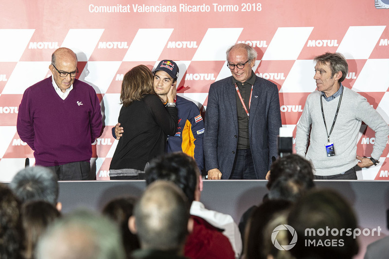 Dani Pedrosa, Repsol Honda Team with his parents