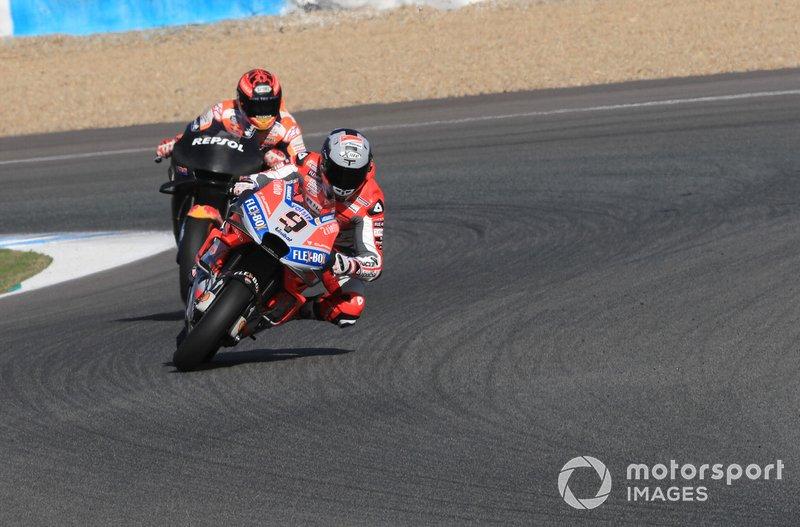 Danilo Petrucci (Ducati Team) et Marc Márquez (Repsol Honda Team)