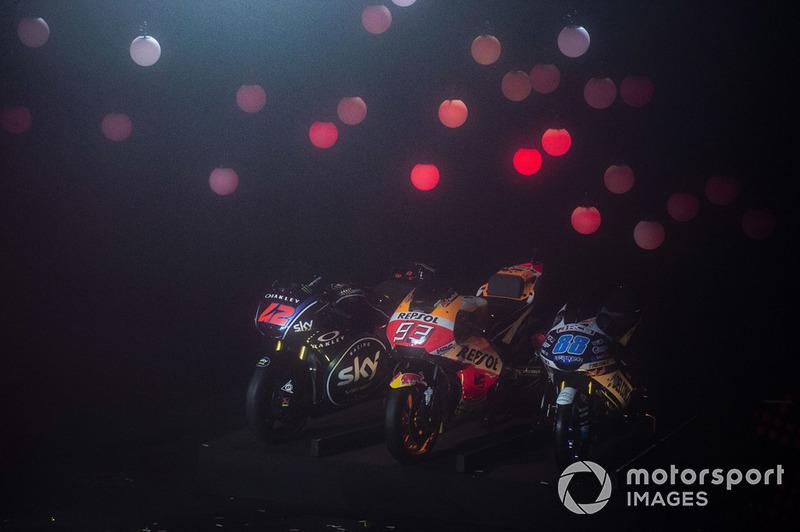 Motos de Francesco Bagnaia, Sky Racing Team VR46, Marc Marquez, Repsol Honda Team, Jorge Martin, Del Conca Gresini Racing