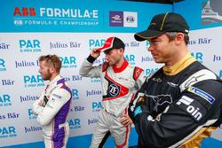 Sam Bird, DS Virgin Racing, Maro Engel, Venturi Formula E Team, Andre Lotterer, Techeetah, in the media pen