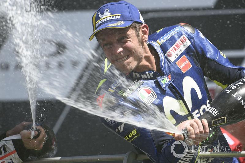Peraih finis ketiga, Valentino Rossi, Yamaha Factory Racing