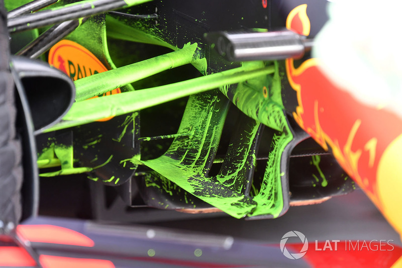 Aero paint on Red Bull Racing RB14