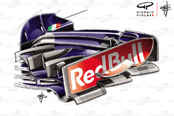 Toro Rosso STR13 front wing end plate
