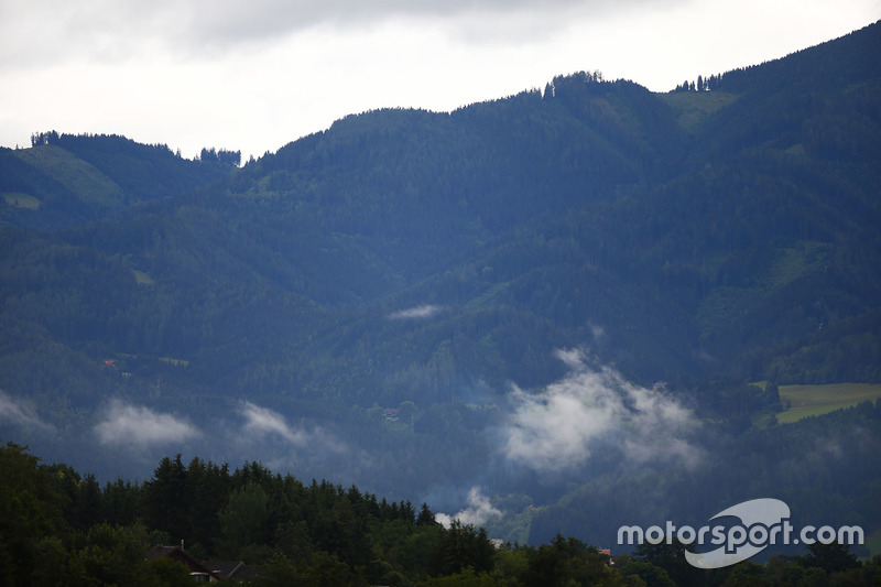 A scenic view of the area surrounding the Spielberg circuit