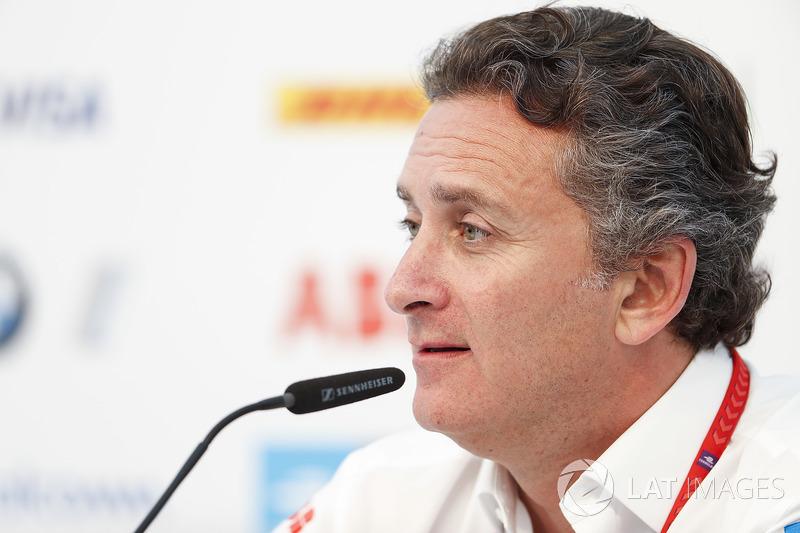 Alejandro Agag, CEO, Formula E, konferensi pers