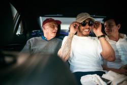 Niki Lauda, Mercedes AMG F1 Non-Executive Chairman, Lewis Hamilton, Mercedes-Benz F1, Toto Wolff, Executive Director Mercedes AMG F1