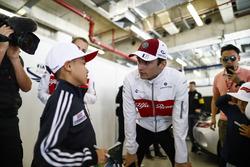 Charles Leclerc, Sauber, meets a young fan