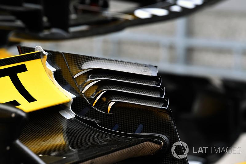 Detalle del ala trasera del Renault Sport F1 Team R.S. 18