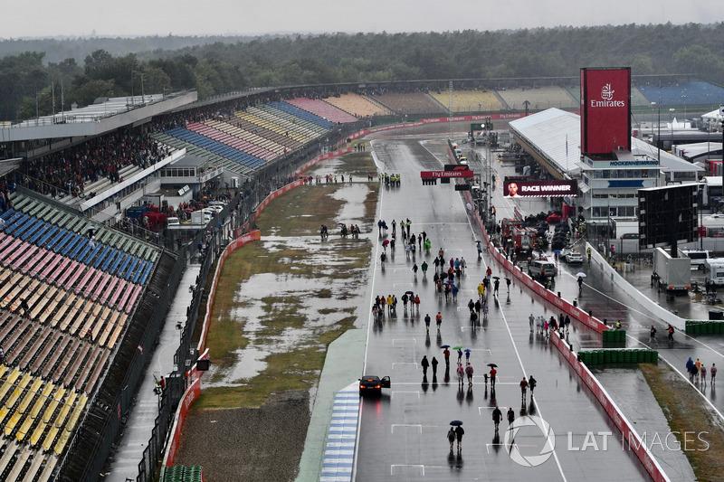Pioggia torrenziale dopo la gara