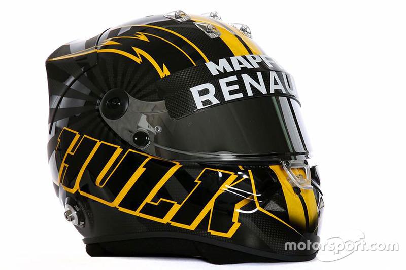 Nico Hulkenberg'nin yeni kask tasarımı