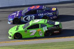 Danica Patrick, Premium Motorsports Chevrolet Camaro and Darrell Wallace Jr., Richard Petty Motorsports Ford Fusion