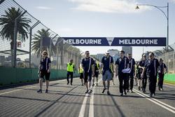 Esteban Ocon, Force India F1 walks the track