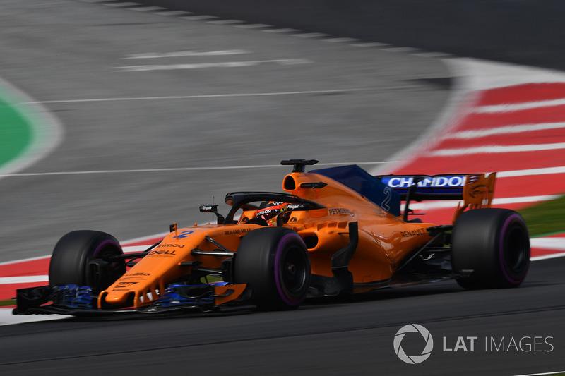 12º Stoffel Vandoorne, McLaren MCL33: 1:18.855 (Hiperblandos)