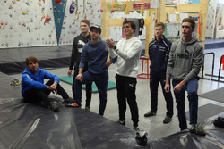 Augusto Farfus, Marco Wittmann, Philipp Eng, Bruno Spengler Philipp Eng ve Joel Eriksson  duvar tırmanışı