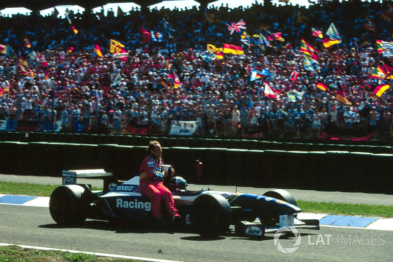 Hockenheim 1995 : David Coulthard (Williams) et Rubens Barrichello (Jordan)