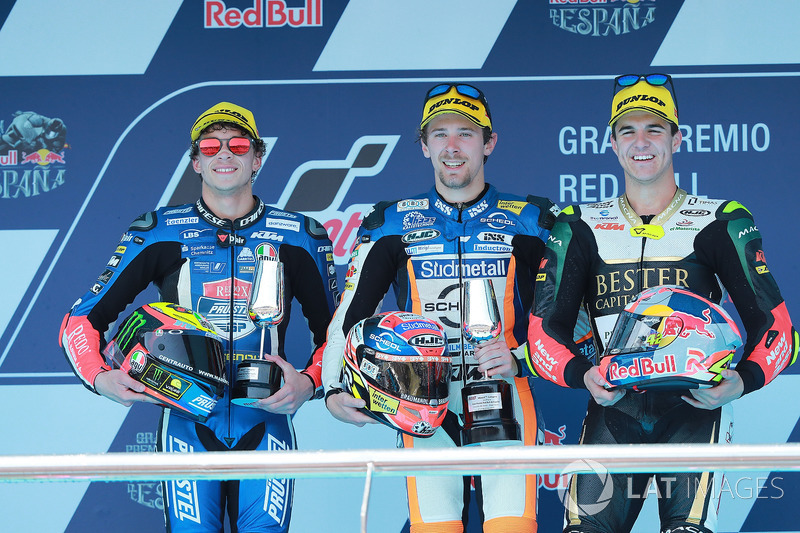 Marco Bezzecchi, Prustel GP, Philipp Ottl, Schedl GP Racing, Marcos Ramirez, Bester Capital Dubai