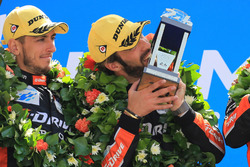 LMP2 podium: winners Andrea Pizzitola, Jean-Eric Vergne, G-Drive Racing