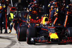 Arrêt au stand pour Max Verstappen, Red Bull Racing RB13