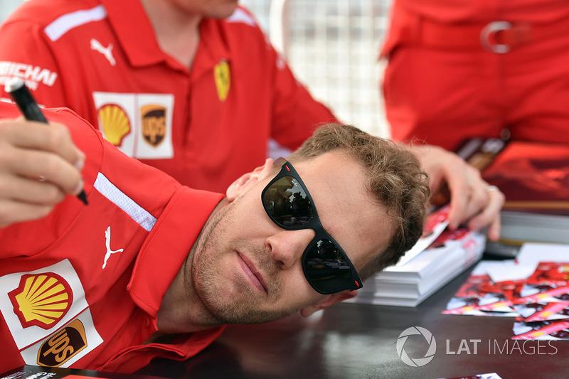 Sebastian Vettel, Ferrari at the autograph session