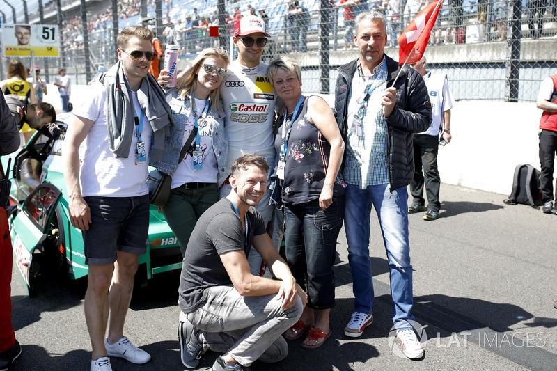 Nico Müller, Audi Sport Team Abt Sportsline with fans