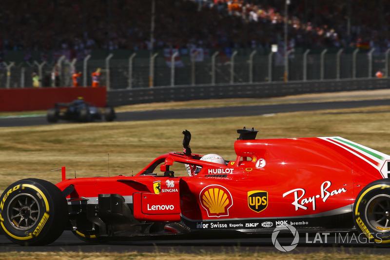 Vettel and Ferrari celebrate race win