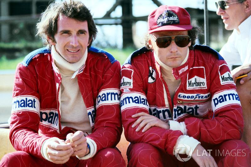 John Watson y Niki Lauda, Brabham