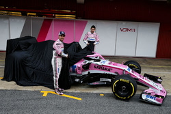 Sergio Perez, Sahara Force India and Esteban Ocon, Sahara Force India F1 unveil the new Sahara Force