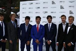 George Russell, Brendon Hartley, Scuderia Toro Rosso, Charles Leclerc, Sauber, Pierre Gasly, Scuderia Toro Rosso, Antonio Giovinazzi, Ferrari, Sergey Sirotkin, Williams y Marcus Ericsson, Sauber