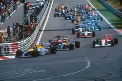 Start zum GP Belgien 1993: Alain Prost, Williams FW15C, führt