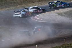 Petter Solberg, PSRX Volkswagen Sweden, Mattias Ekström, EKS Audi Sport, Andreas Bakkerud, EKS Audi Sport