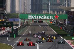 Sebastian Vettel, Ferrari SF71H, Kimi Raikkonen, Ferrari SF71H, Valtteri Bottas, Mercedes AMG F1 W09, Lewis Hamilton, Mercedes AMG F1 W09, Max Verstappen, Red Bull Racing RB14 Tag Heuer, Daniel Ricciardo, Red Bull Racing RB14 Tag Heuer, Nico Hulkenberg, Re